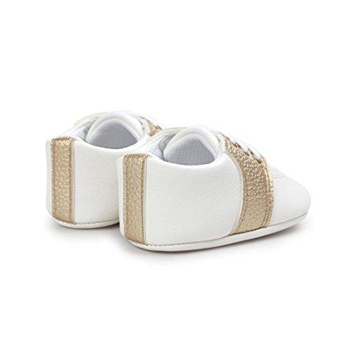 kingko® Baby Soft Sohle Schuhe Kleinkind Turnschuhe Freizeitschuhe Gold