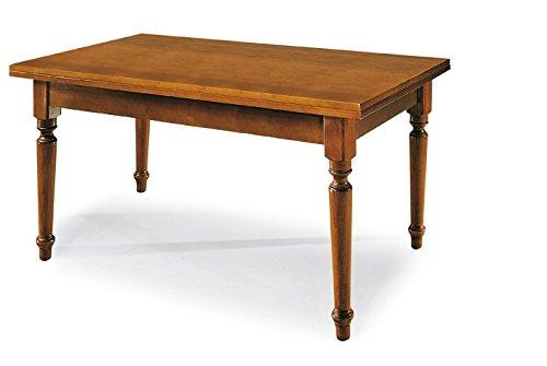 Lo scrigno arredamenti, tavolo rettangolare allungabile placcatura piano 140-220 w130/ntr