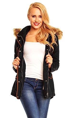 winter-damen-jacke-mantel-blogger-parka-kapuze-schwarz-beige-khaki-xs-xl-x589-m-schwarz
