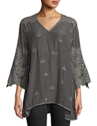 5e49f39e8d9 JOHNNY WAS Women s Jay Jay V-Neck Top with Crochet Detail