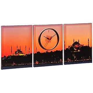 Group Asir LLC 248CTY1678 Clockity Decorative Canvas Wall Clock, Multi-Colour
