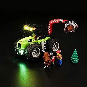 BRIKSMAX Kit di Illuminazione a LED per Lego City Trattore Forestale, Compatibile con Il Modello Lego 60181 Mattoncini… 0716852283330 LEGO