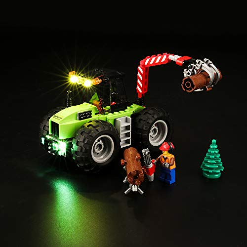 BRIKSMAX Led Beleuchtungsset für Lego City Starke Fahrzeuge Forsttraktor, Kompatibel Mit Lego 60181 Bausteinen Modell - Ohne Lego Set