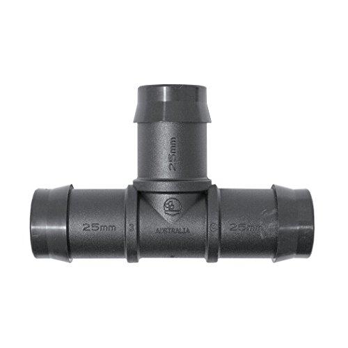 Plant it Té pour connexion tuyau à 25 mm – 25 Pack – 45075, noir, 9.7 x 6.2 x 3 cm, 13–630–920
