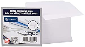 Interdruk KOSPAPNK7 - Bloque de Notas (85 x 85 x 70 mm), Color Blanco