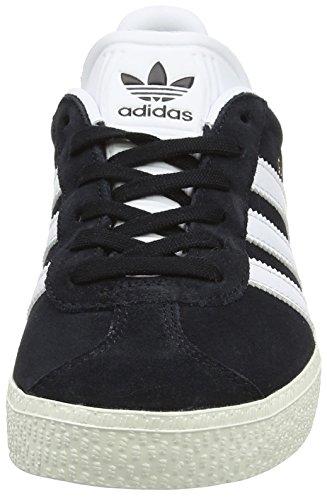 adidas Unisex-Kinder Gazelle Trainer Low Schwarz (Core Black/ftwr White/gold Metallic)