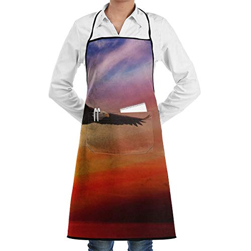 Eagles Kostüm Women's - custom aprons Beautiful Flying Eagle Aprons Bib for Mens Womens Craft Lace Adjustable Adult Kitchen Waiter Schürzen mit Taschen