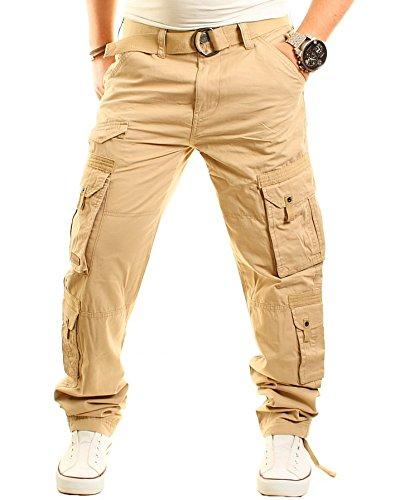 Früchtl Herren Cargo Hose, beige, W32/L32