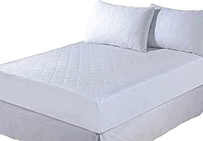 E4emporium - Quilted Mattress Protector, Fitted Mattress Cover - All Sizes Available - Single, Double, 4 Feet, King, Super King And Pillow - cheap UK light store.