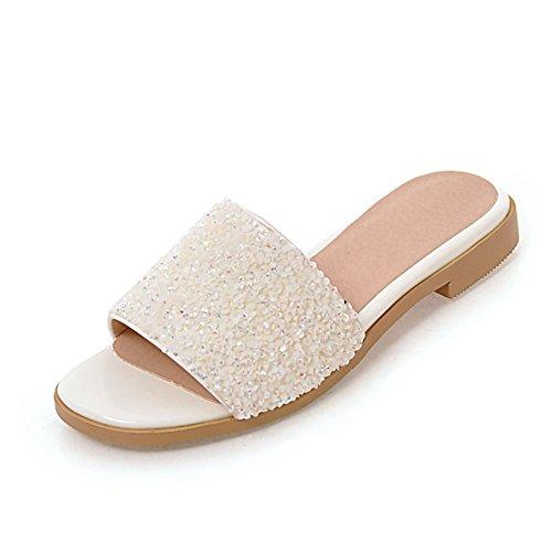 -Versione Coreana Di Word Per Fondo Piatto Indossando Sandali E Pantofole/Paillettes Sandali Di Moda All'aperto B