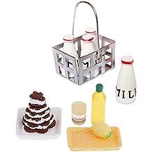 F Fityle Modelo Adornos de Cocina Miniatura Comida Pastel para Casa de Muñecas Escala ...