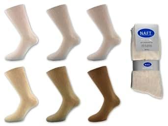 12 Paar Herren Socken 100% Baumwolle Beige 43-46