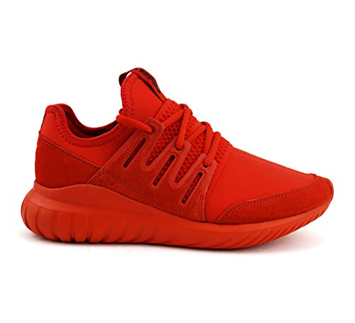 adidas Tubular Radial J, Chaussure de Sport Unisexe - enfant Red / Red / Core Black (Rot)