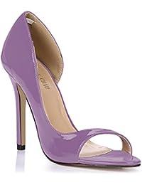 d76ad91ea917a CHMILE Chau-Zapatos para Mujer-Bombas de Tacon Alto de Aguja-Talón Delgado- Sexy-Moda-Vestido de Fiesta…