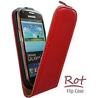 Flipcase Hülle Etui Handytasche Slim in rot für LG Optimus L4 II / E440