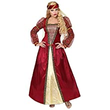 Womens Ladies Medieval Princess Red Adult Fancy Dress Costume Outfit S