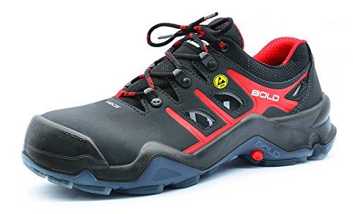 HKS , Chaussures de sécurité pour homme Noir/rouge