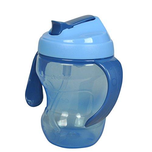 BOBORA Tasses d'Apprentissage, Tasse d'eau Potable de Bébé de 260ml avec la Poignée de Paille BOBORA