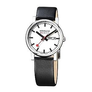 Reloj de caballero Mondaine A667.30344.11SBB de cuarzo (suizo), correa de piel de Mondaine