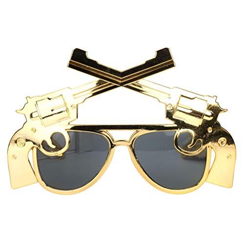 Amosfun Lustige Tanzparty-Sonnenbrille Gewehr-Shooter-geformte Brillen für Maskerade-Party