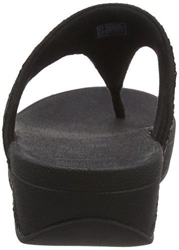 FitFlop Electra Micro Toe-Post, Sandales Bout Ouvert Femme Noir (noir UK)