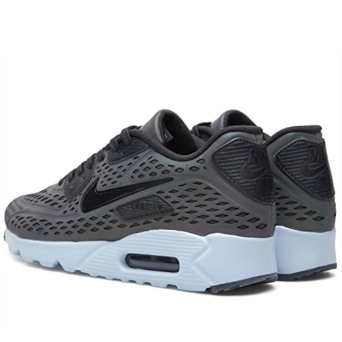 Nike Air Max 90 Ultra Moire Qs, Chaussures de Running Entrainement Homme Multicolore - Gris / Blanco / Negro (Deep Pewter / Black-Porpoise)