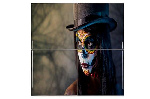 Carrelage Fantasy Gothic Maquillage crâne imprimées céramique 15x15 cm