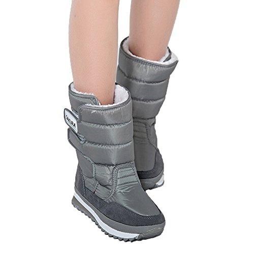 Fortuning's JDS delle donne della ragazza inverno impermeabile Velcro Peloso colorati Sakura scarponi da neve stivali stivaletti spaziali
