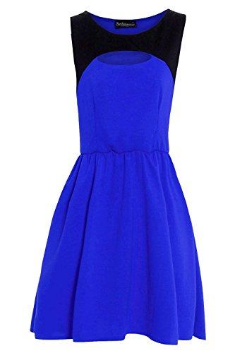 Be Jealous -  Vestito  - Senza maniche  - Donna Royal Blue - Front Cut Out Contrast Panel