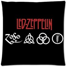 Generic Personalized Led Zeppelin Rock Band Sign Style Sold By Too Amazing Pillowcase Zippered Throw Pillow Case 18x18 inches (one sides)