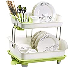 ASkyl Kitchen Sink Dish Plate Drainer Drying Rack Wash Organizer Tray Holder Basket for Kitchen (Color May Vary)