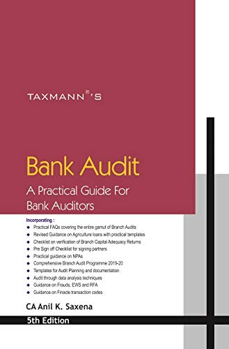 Taxmann's Bank Audit-A Practical Guide for Bank Auditors (5th Edition 2020)