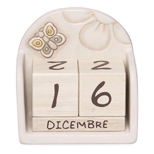 Thun calendario perpetuo da tavolo elegance, ceramica, variopinto