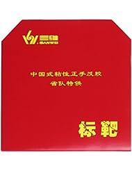 sanwei Target Provincial Factory Tuned Tenis de Mesa Combinado TT de combinado Noppen Interior Tension 39° negro