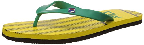 Fila Men's Dandy Yellow, Black and Green Flip Flops Thong Sandals -9 UK/India (43 EU)  available at amazon for Rs.174