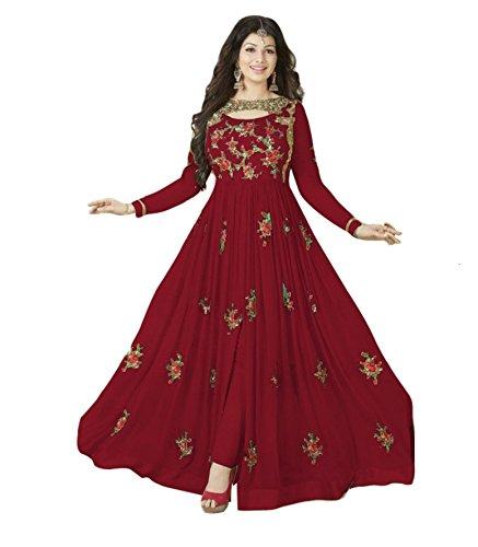 Fashion Basket Stylish Designer Embroidered Gerorgette Bollywood Anarkali Salwar suit