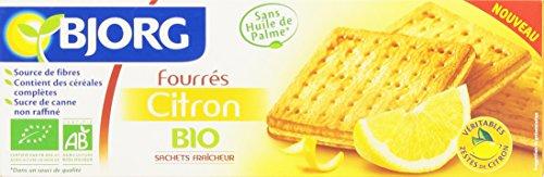 Bjorg Biscuits Fourrés au Citron Bio 225 g