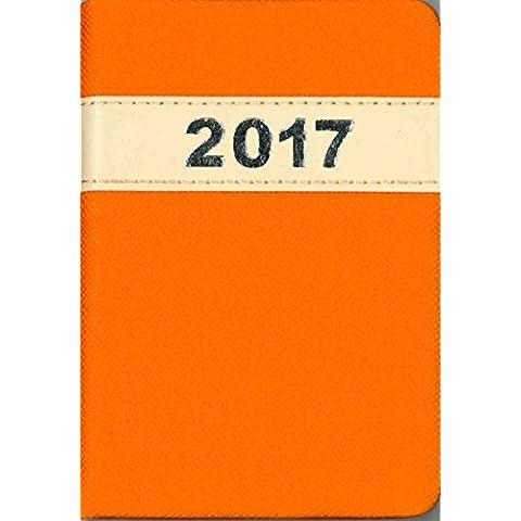 2017Tallon bolsillo agenda con vista semanal de piel sintética con cosido banda–1815, color