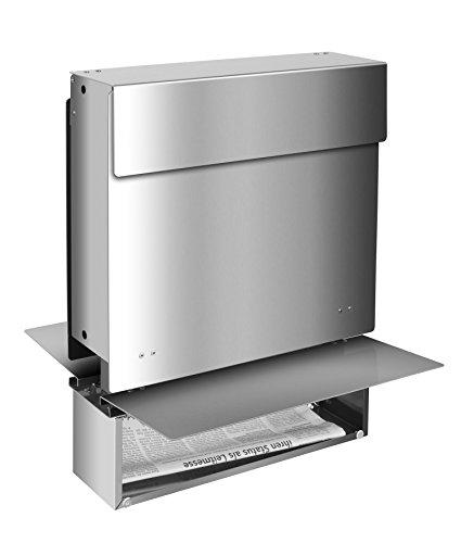 Frabox Edelstahl Design Zaunbriefkasten NAMUR - 2