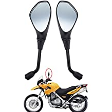 Samger Espejo retrovisor lateral lateral de motocicleta universal de 10 mm