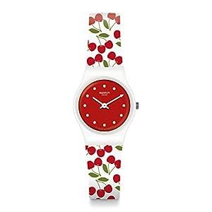 Swatch Reloj Analógico para Mujer de Cuarzo con Correa en Silicona LW167