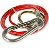 BITS4REASONS NEW MODEL MAYPOLE MP501B BREAKAWAY CABLE PVC RED 1M x 3MM SAFETY TRAILER CARAVAN CABLE