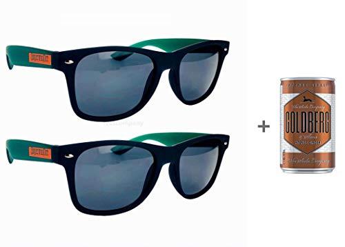 Jägermeister Sonnenbrille Nerd-, Party-, Wayfarer Brille in schwarz grün Aktion - 2 Stück