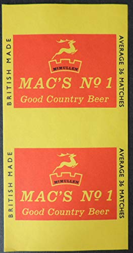 ALL ROUND THE BOX MATCH LABELS MAC'S NO.1 COUNTRY BEER McMULLEN UNUSED MINT PROBABLY A PROOF DRINK ALCOHOL TOBACCO JandRStamps