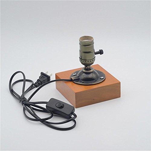 BJVB Vintage Wood piazza piedistallo lampada lampada illuminazione lampade e accessori per la lavorazione del legno spingono pulsante interruttore lampada . a