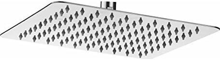 Pesca R/N Ultra Slim Stainless Steel Square Shower Head 12x12 inch, Steel Grade 304, (Series :- Super Heavy)