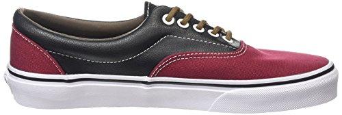 Vans Era Scarpe da Ginnastica Basse, Unisex Adulto Multicolore (leather/plaid/rhubarb/black)