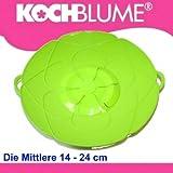 Original Kochblume - der Überkoch-Schutzdeckel mittel (Gundel) Farbe: grün-transparent