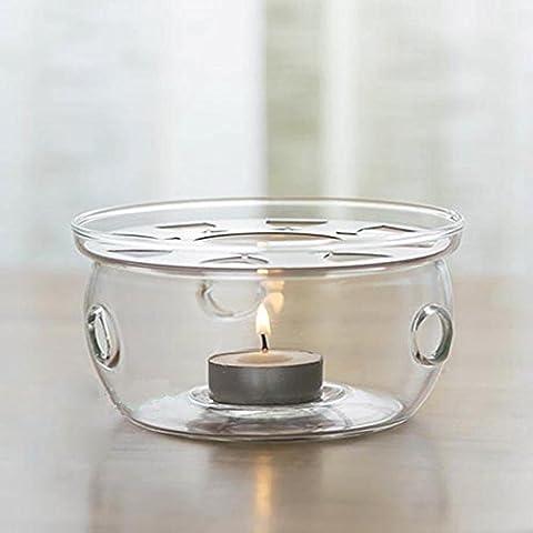 TAMUME Stövchen Crystal Clear Glas Stövchen Transparent Tee-Wärmer Teekanne Wärmer Für Teelicht Halterungen mit Tealight Geschenke Passend für 200-600ML Glas-Teekanne Glaswärmer