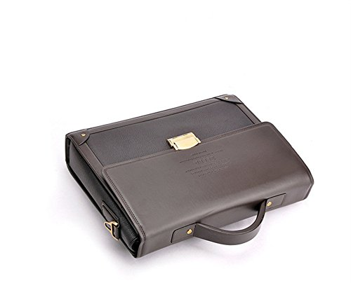 Wewod Herren Vintage Businesstaschen Herrentaschen Hohe Qualität PU Leder Umhängetasche für Männer Magnetic Buckle Aktentasche Braun A